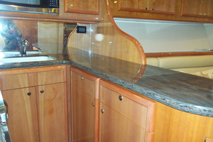 47' Jersey Cape Hardtop Express SF 2013 Galley Looking Forward