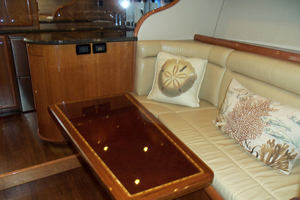47' Jersey Cape Hardtop Express SF 2013 Salon Looking Aft