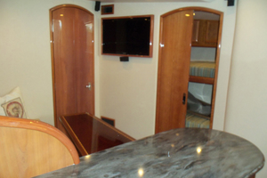 47' Jersey Cape Hardtop Express SF 2013 Salon Looking Starboard