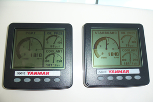 47' Jersey Cape Hardtop Express SF 2013 Yanmar Gauges