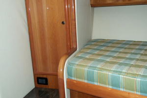 47' Jersey Cape Hardtop Express SF 2013 Aft of Portside Forward Bunk