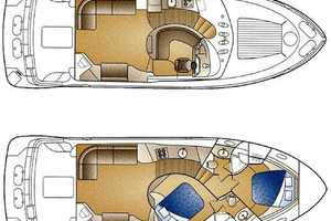 45' Carver 450 Voyager Pilothouse 1999 Layout Drawing