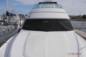 45' Carver 450 Voyager Pilothouse 1999 Bow View Looking Stern with Sunpad