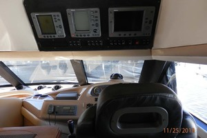 45' Carver 450 Voyager Pilothouse 1999 View from Behind Captain's Chair