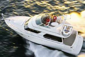 45' Carver 450 Voyager Pilothouse 1999 Voyager Stock Photo