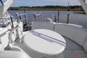 45' Carver 450 Voyager Pilothouse 1999 Flybridge Looking to the Stern
