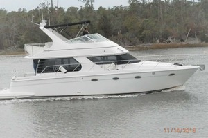 45' Carver 450 Voyager Pilothouse 1999 Profile