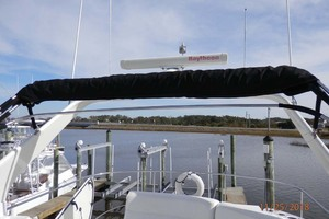 45' Carver 450 Voyager Pilothouse 1999 Flybridge View Looking Aft