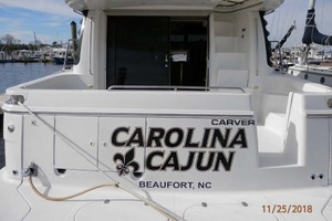 45' Carver 450 Voyager Pilothouse 1999 Stern View