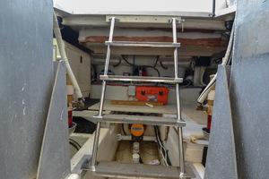 53' Carver 530 Voyager Skylounge 2002 Ladder