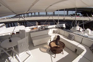 61' Hatteras 61 Motoryacht 1980 Flybridge Entertainment Seating