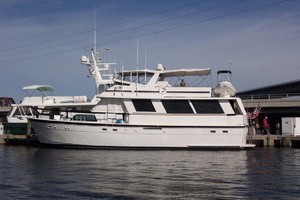61' Hatteras 61 Motoryacht 1980 Port Side Profile