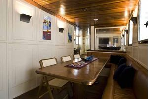 85' Custom Motor Yacht 1962 Dining Area