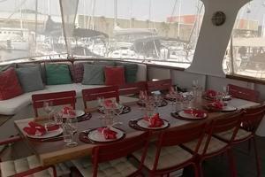 85' Custom Motor Yacht 1962 Aft Deck Dining