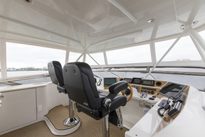 69' Marquis 65 Skylounge 2008 Helm station view 2