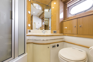 69' Marquis 65 Skylounge 2008 Master head with vanity and separate shower stall