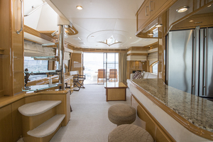 69' Marquis 65 Skylounge 2008 Galley looking aft