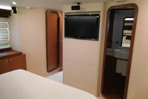 65' Ferretti Yachts 630 2009 Master Stateroom - Sharp TV