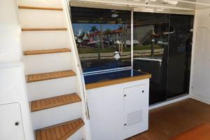 63' Ferretti Yachts 630 2009 Aft Deck - Stairs to Flybridge