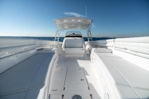 40' Intrepid 400 Center Console 2016 Bow Facing Aft