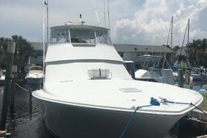 55' Viking Convertible 2000 Defiant III Docked #1