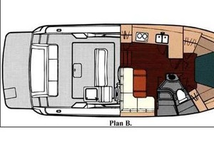 35' Tiara Express 2001 Plan B Layout