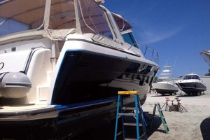 35' Tiara Express 2001 Out of the Water