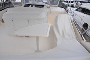 65' Fairline Squadron 1995 Flybridge Covers