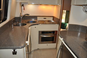 65' Fairline Squadron 1995 Galley Looking Aft