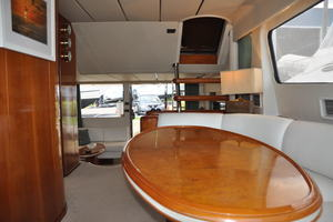 65' Fairline Squadron 1995 Dining Area Looking Aft