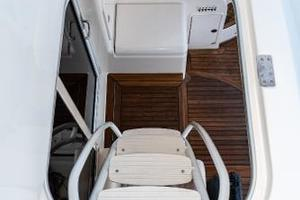 58' Riviera 58 Flybridge 2007 Stairs from Mezzanine