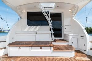 58' Riviera 58 Flybridge 2007 Cockpit Forward