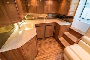 45' Viking Express 2005 Galley 2