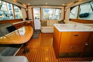 47' Cabo 47 Flybridge 2002 Salon Looking Aft