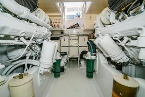 47' Cabo 47 Flybridge 2002 Engine Room Looking Aft