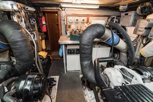 55' Monte Fino 55 2000 Engine Room Aft
