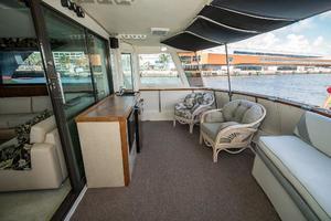 54' Hatteras 54 Motor Yacht 1988 Aft Deck Stbd