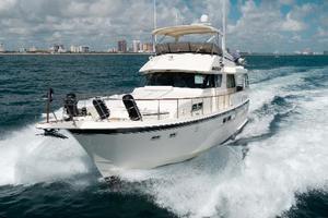 54' Hatteras 54 Motor Yacht 1988 Port Bow