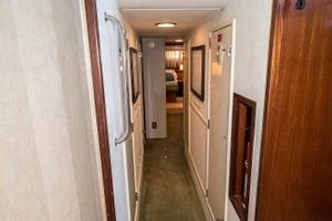 54' Hatteras 54 Motor Yacht 1988 Companionway to Enginerooms, Master and Guest Stateroom