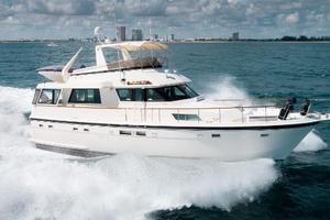 54' Hatteras 54 Motor Yacht 1988 Stbd Profile Running