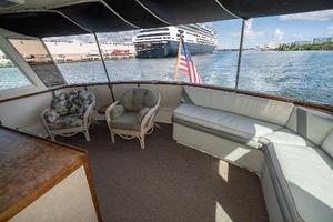 54' Hatteras 54 Motor Yacht 1988 Aft Deck