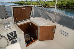 54' Hatteras 54 Motor Yacht 1988 Flybridge Entrance