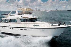 54' Hatteras 54 Motor Yacht 1988 Stbd Profile