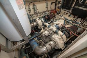 54' Hatteras 54 Motor Yacht 1988 Port Engine 2