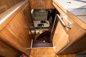 54' Hatteras 54 Motor Yacht 1988 Stairs to Galley