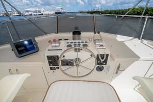 54' Hatteras 54 Motor Yacht 1988 Helm 2