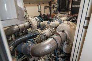 54' Hatteras 54 Motor Yacht 1988 Port Engine 1