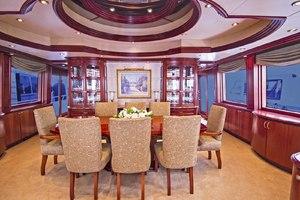 119' Crescent RPH Euro Transom 2004 Dining Salon