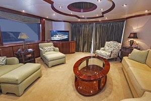 119' Crescent Rph Euro Transom 2004 Salon Looking Aft to Starboard