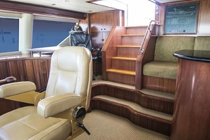 119' Crescent Rph Euro Transom 2004 Pilothouse Office Aft to Starboard